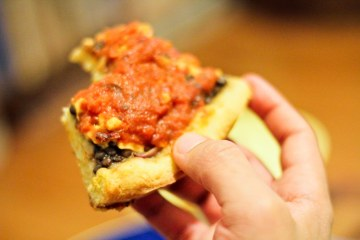 Deep Dish Lentil Pizza / Vegan Recipe / Mere Living