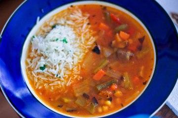 Vegetable Tortilla Soup / Vegan Recipe / Mere Living