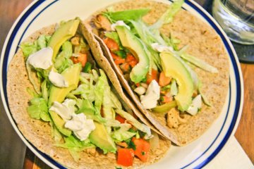 Fresh Vegan Fajitas / Mere Living Food Blog / Mexican Recipe