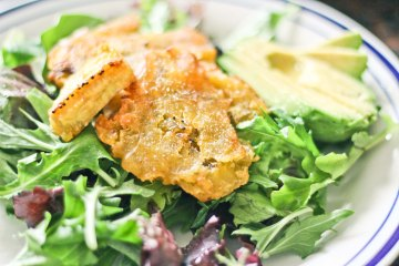 Tostones Salad / Mere Living Vegan Food Recipe