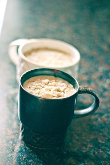 Frozen Banana & Peanut Butter Smoothie / Mere Living Vegan Recipe