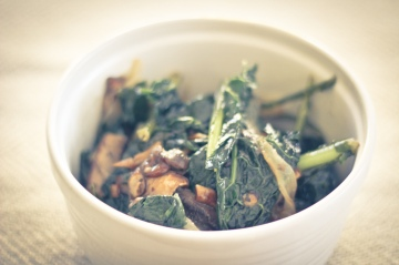 Lacinato Kale with Smoked Mushrooms / Vegan Recipe / Mere Living October 2014